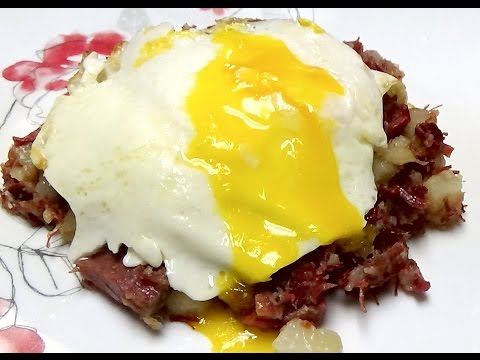 Recipe for Homemade Corned Beef Hash From Your Leftover Corned Beef Brisket at St Patrick's Day