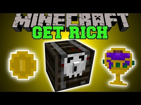 Minecraft: GET RICH (GOLDEN LOOT, GRAVEYARDS, EPIC CHESTS, & MORE!) Mod Showcase