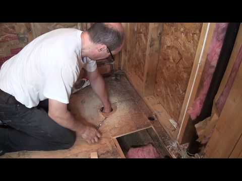 Move toilet, new drain pipe. Bathroom Remodeling. Part 5.