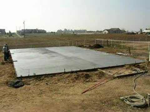 Pouring slab for shop