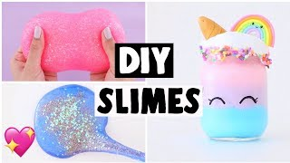 MAKING 6 AMAZING DIY SLIMES - FAMOUS Slime Recipe COMPILATION!