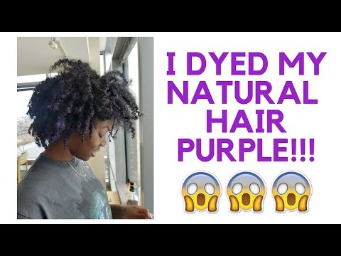 I DYED MY NATURAL HAIR PURPLE!!!.... Temporarily