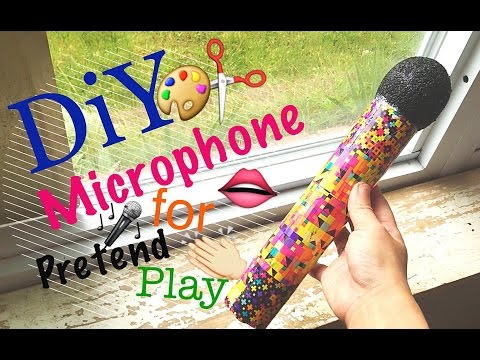 How to make a Microphone for Pretend Play \\ DiY + Tutorial for Kids