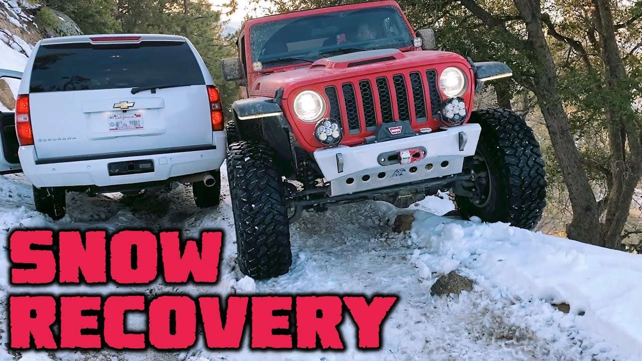 SNOW WHEELING & RECOVERY! We Rescue a Suburban on Dishpan Springs!