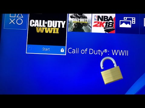 """HOW TO PLAY ANY PS4 DIGITAL GAME ON A NEW PSN ACCOUNT WITHOUT GETTING """"LOCK"""" SYMBOL"""