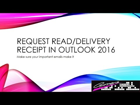 Request Read and Delivery Reports From Emails In Outlook 2016