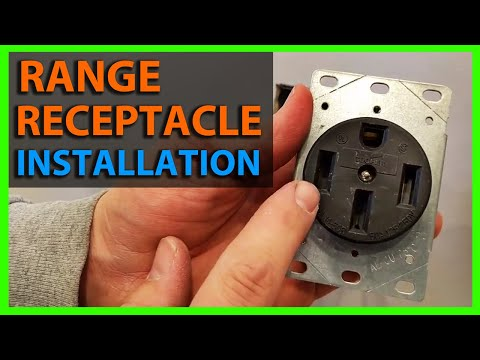 How To Install a Range Receptacle or Outlet - Flush Mount 50 Amp 4 Wire