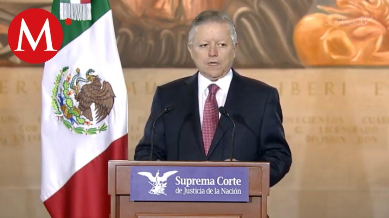 Arturo Zaldívar, presidente de la SCJN da conferencia de prensa