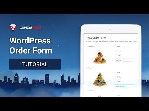 CaptainForm WordPress Form Builder - Order Form Tutorial