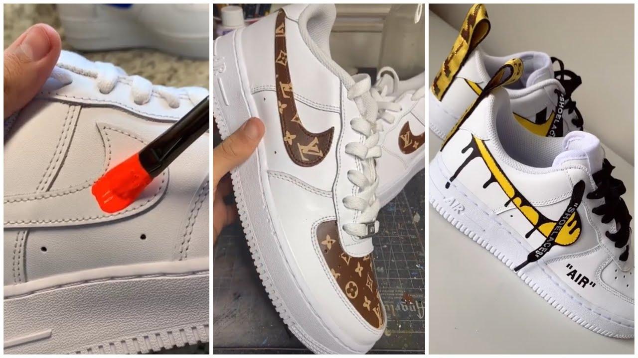 TIKTOK custom shoes! Air Force 1 Edition af1 (pt 23.)
