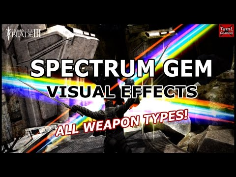 Infinity Blade 3: Spectrum Gem Visual Effects! All Weapon Types