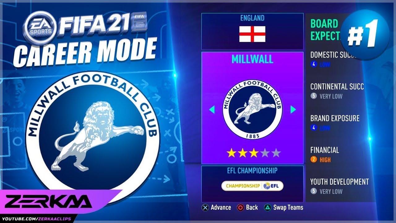 THE START OF MILLWALL CAREER MODE! (FIFA 21 Millwall Career Mode #1)