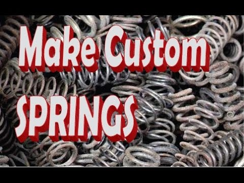 Making Springs In Your Garage