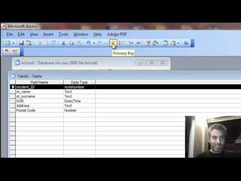 creating a table in ms access 2003