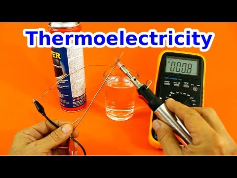 Thermoelectricity, Seebeck and Peltier Effect. Electricity Generation from Heat.