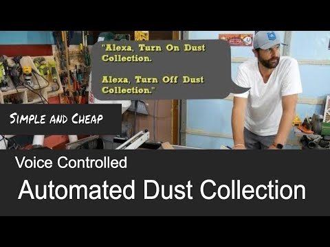 How to Automate a Dust Collection System // Echo Dot and Zwave