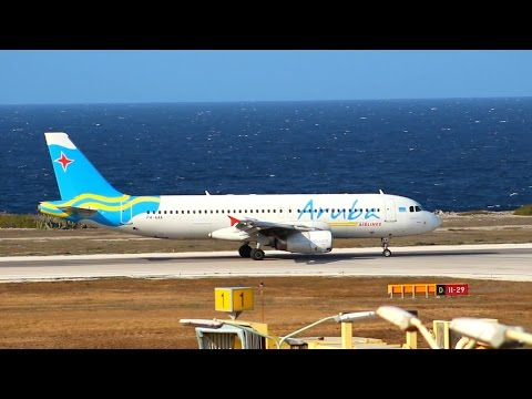 Aruba Airlines A320 & Insel Air Fokker 50 Action @ Hato