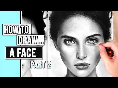 How to Draw a Realistic Face | Portrait Drawing Tutorial Part 2: Skin + Hair