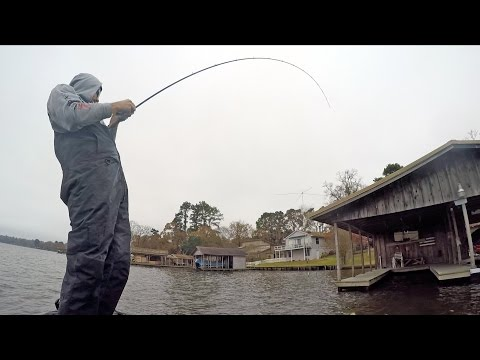 Fishing Flipping Jigs for Winter Bass