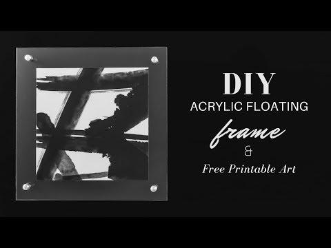 DIY Acrylic Frame Tutorial & Free Printable Abstract Wall Art