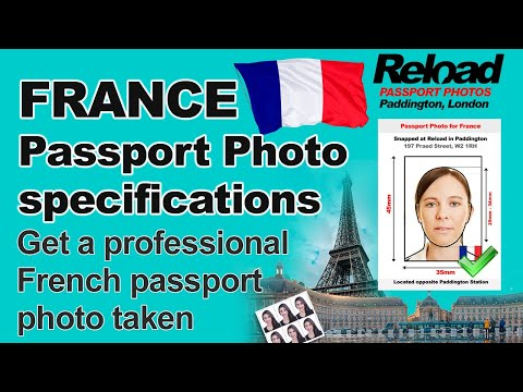 Get your French Passport photos & Visa Photos for France snapped at Reload Internet in Paddington