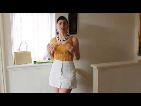 Bullet Bra review & Sewing update video. 1960s style.