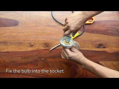 DIY: Make your own hanging mason jar lights