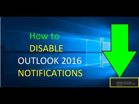 How to Turn Off Email Notifications Outlook 2016 2013 2010