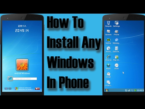 How to install Any WINDOWS  on ANDROID TABLET/PHONE