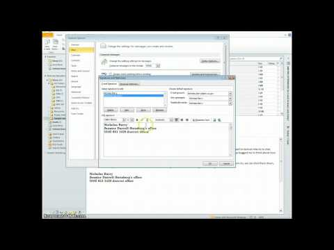 Create email signature in Outlook 2010