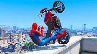 GTA 5 Spiderman Epic Jumps #4 ( Spider-Man Stunts & Fails )