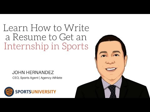 Learn How to Write a Resume to Get an Internship in Sports