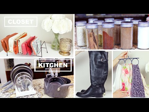 Organize With Me! Closet + Kitchen Organization Tips and Hacks