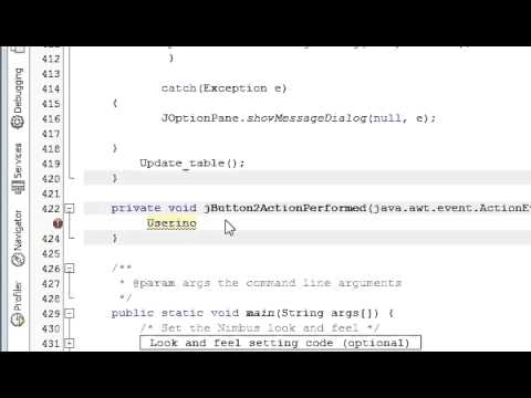 Java prog#15.How To Open New Jframe From A jButton in Netbeans java