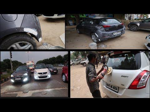 My Car Accident | Car Bumper Repair | Car Denting Painting | Car Rubbing | Hyundai i20 | Swift