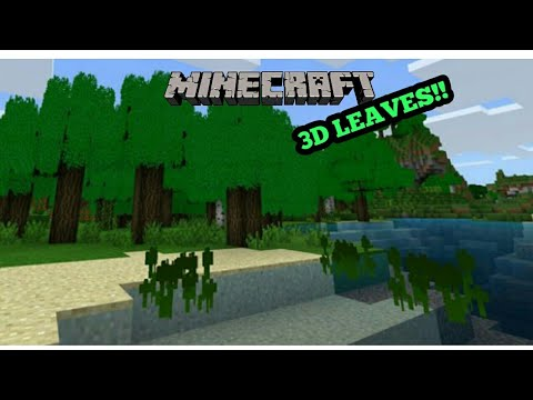 Minecraft PE 1.2 | 3D LEAVES, GRASS, & WATER IN MCPE 1.2!! + DOWNLOAD LINK!! (Pocket Edition)