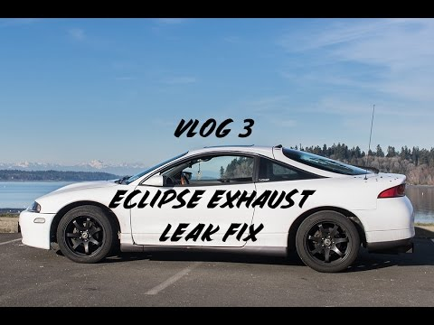 Eclipse Rear Strut Bar and Exhaust Leak Fix | Vlog 3
