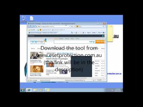 Remove the White Screen computer Virus using Eset's Free online scanner