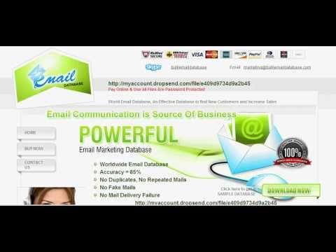 email database, database email, bulk email list, email address database,