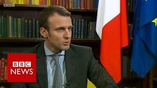 Emmanuel Macron on EU Referendum and Hinkley Point - BBC News
