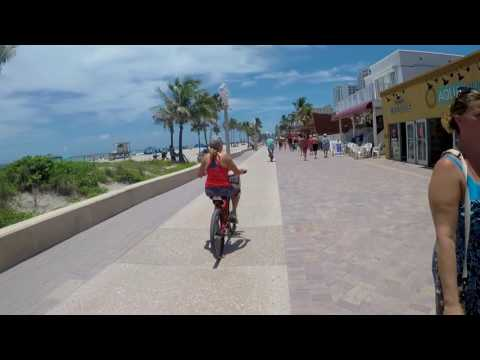 Hollywood Florida Broadwalk Bike Ride