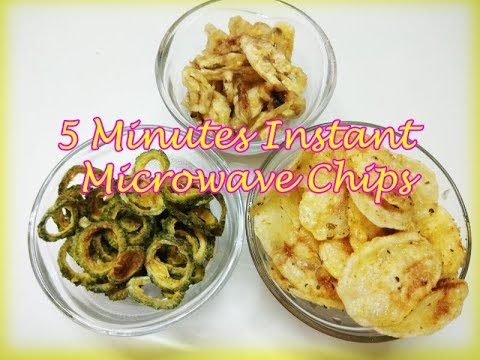 5 minutes microwave chips || Microwave Hacks || How to Make Crispy Chips at Home by Food Hub (Part1)
