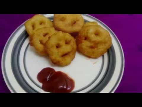 Easy smiley potato fries/How to make smiley potato recipe