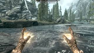 Skyrim Gameplay - Dark Elf Mage, Kiting Anise to Riverwood