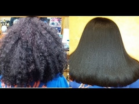 Permanent hair straightening at home using Natural ingredients,Hair Straightening At Home