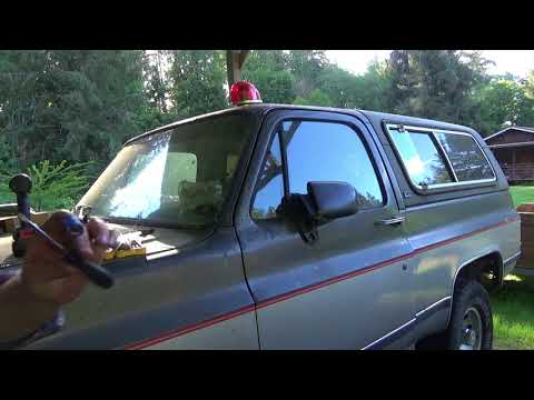 1991 GMC Jimmy Exterior Rear View Mirror Removal
