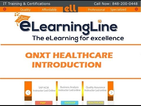 QNXT System INTRODUCTION by ELearningLine @848-200-0448