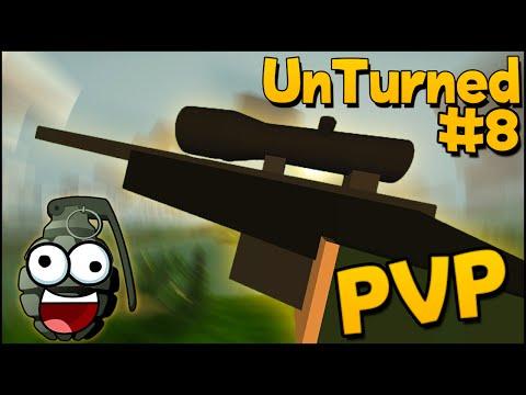 Unturned PvP Gameplay - Part 8 - Sniper, PvP & Frag grenades