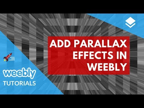 How to add parallax effects to your Weebly website | Weebly Tutorials