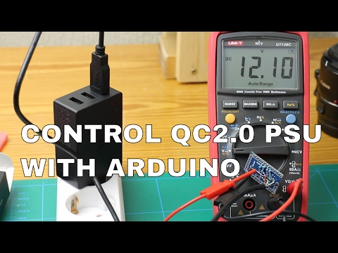 Set QuickCharge 2.0 PSU's Output Voltage With Arduino
